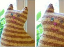 wondrous window cat knitted toy   the knitting space