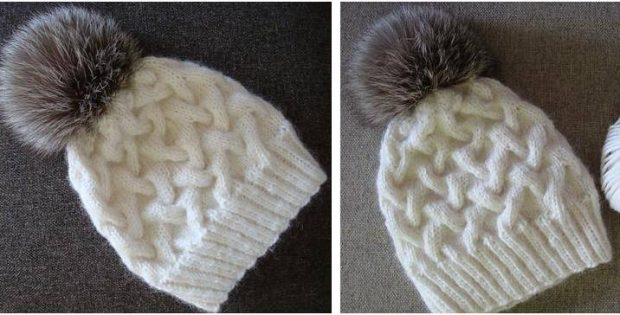 Wondrous Winter Cable Knitted Hat Free Knitting Pattern