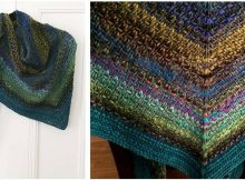 woven stitch knitted shawl | the knitting space