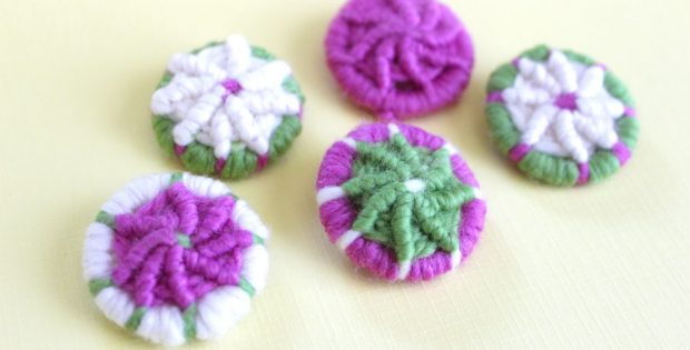 Learn to make yarn Dorset buttons | the knitting space