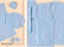 zestful zig zag knitted baby set | the knitting space