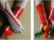 knitted zippered hand warmers   the knitting space